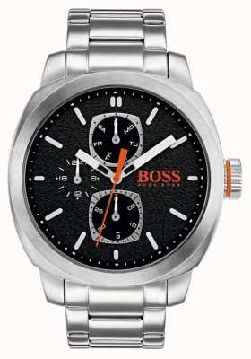 Hugo Boss Orange Mens capetown horloge zwarte wijzerplaat roestvrij staal 1550029