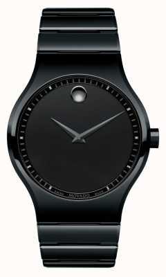 Movado Heren zwart keramisch kwart horloge 0607047