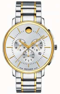 Movado Mens dunne klassieke chronograaf twee toon 0606887
