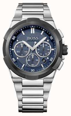 Hugo Boss Mens supernova chronograaf blauwe wijzerplaat 1513360