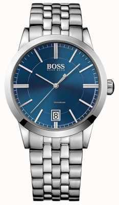 Hugo Boss Mens succes kijk op blauwe wijzerplaat 1513135