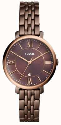 Fossil Womans jacqueline bruin roestvrij stalen horloge ES4275