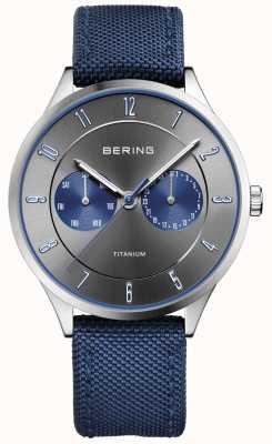 Bering Heren ultra licht titanium nylon blauw 11539-873