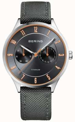 Bering Heren ultra licht titanium nylon grijs 11539-879