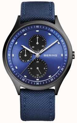 Bering Heren ultra licht titanium chronograaf nylon blauw 11741-827