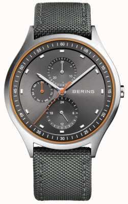 Bering Heren ultra licht titanium chronograaf nylon grijs 11741-879