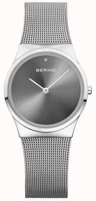 Bering Unisex Classic Sunray Dial Zilver Milaan 12130-009