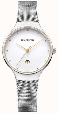 Bering Womans klassieke date zilveren milanese band 13326-001