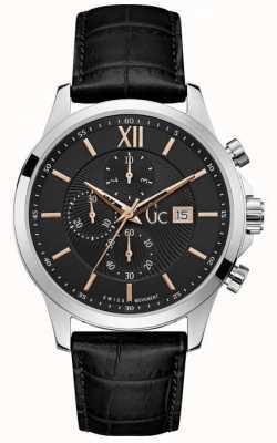 Gc Heren executive klassieke zwarte chronograaf horloge Y27001G2