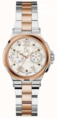 Gc Womans structura day date twee toon horloge Y29002L1