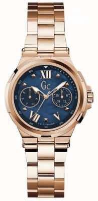 Gc Womans structura date date rose gouden toon horloge Y29003L7