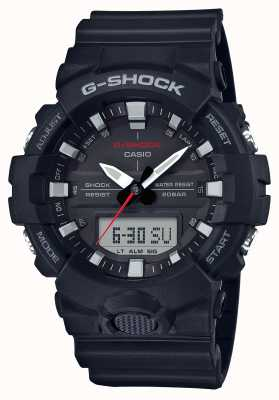 Casio Mens g-shock alarm chrono rubber band zwart GA-800-1AER