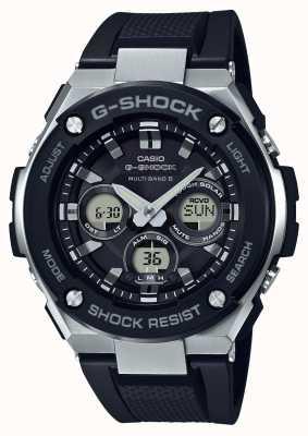 Casio g-shock g stalen middelgrote alarm chrono zwart GST-W300-1AER