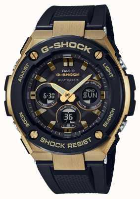 Casio Mens g-shock g-staal zware horloge goud GST-W300G-1A9ER