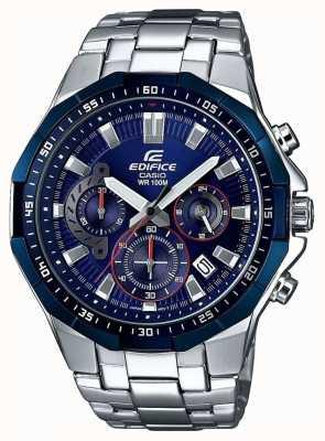Casio Herenhorloge, blauw chronograafhorloge EFR-554RR-2AVUEF