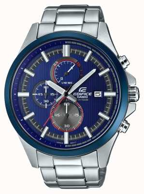 Casio Herenbouw racing blauw chronograaf horloge EFV-520RR-2AVUEF