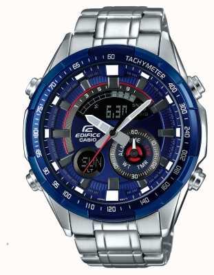 Casio Mensbouw racing blauwe serie alarm chronograaf horloge ERA-600RR-2AVUEF