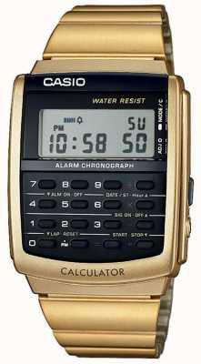 Casio Unisex alarm chronograaf gouden toon calculator alarm chrono CA-506G-9AEF