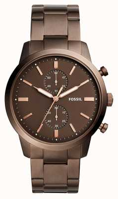 Fossil Menselijke stadsman chronograaf bruin FS5347