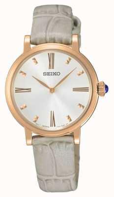 Seiko Womans roos vergulde horloge horloge SFQ812P1