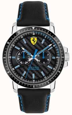Scuderia Ferrari Turbo zwart leren riem 0830448
