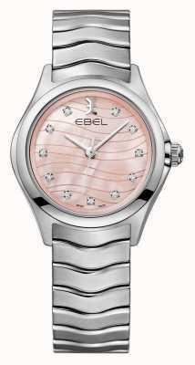 EBEL Damesgolf diamant gezet met roze wijzerplaathorloge 1216268