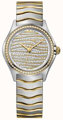 EBEL Dameshorloge met 58 diamanten, 18 kt goud 1216285