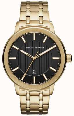 Armani Exchange Heren goudmetaal armband AX1456