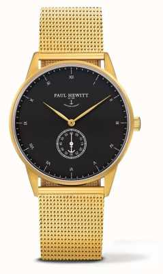 Paul Hewitt Unisex handtekening gouden toon mesh armband PH-M1-G-B-4M