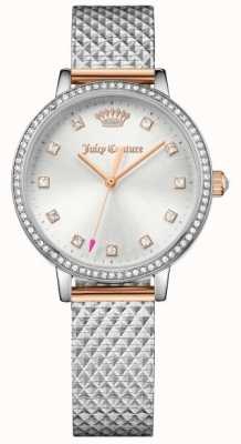 Juicy Couture Dames socialite horloge zilver 1901612