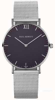 Paul Hewitt Unisex zeilboot zilver staal gaas armband PH-SA-S-ST-B-4M
