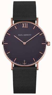 Paul Hewitt Unisex zeeman zwart mesh armband PH-SA-R-ST-B-5M