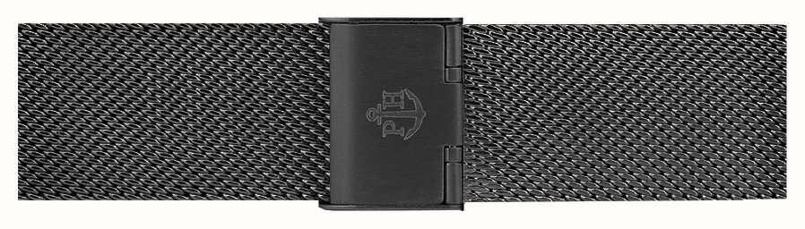 Paul Hewitt Zwarte roestvrijstalen mesh armband 186 mm PH-M1-G-5M