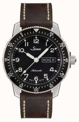 Sinn 104 st een klassieke pilootkijk donkerbruin vintage leer 104.011-BL50202002007125401A