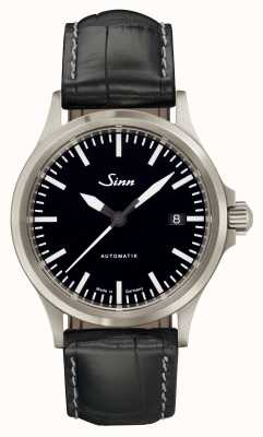 Sinn 556 Ik sport saffierglas zwart alligator reliëf leer 556.010 EMBOSSED LEATHER