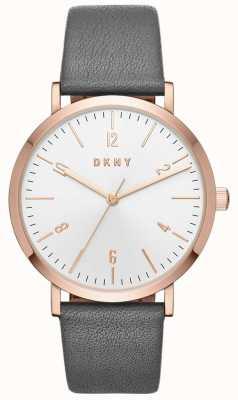 DKNY Vrouwen minetta grijze lederen horloge NY2652