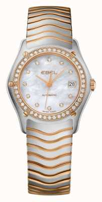 EBEL Womens wave diamond set tweekleurig automatisch horloge 1215928