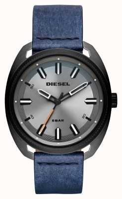 Diesel Heren fastbak denim-look leren riem DZ1838