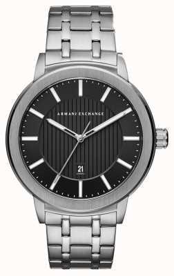 Armani Exchange Mens roestvrij stalen horloge AX1455