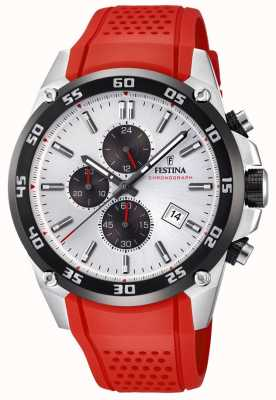 Festina Originele heren tour britain 2017 rode rubberen band F20330/1