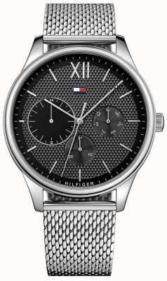 Tommy Hilfiger Heren damon horloge van roestvrij staal met gaas 1791415