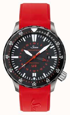 Sinn U2 sdr u-boot stalen missie timer duiker rood silicone 1020.040