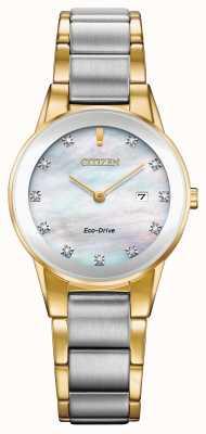 Citizen Dames axioma diamanten datum tweekleurig GA1054-50D