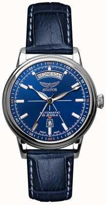 Aviator Heren douglas dag datum horloge blauw V.3.20.0.145.4