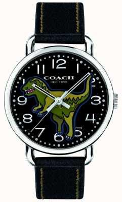 Coach Unisex delancey rexy zwart leer dinosaurus 14400008