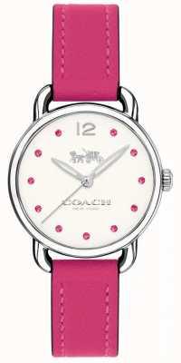 Coach Womans delancey horloge roze leren riem 14502906