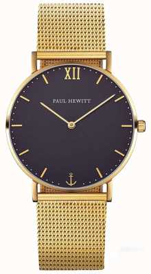 Paul Hewitt Unisex sailor line 39mm gouden mesh armband PH-SA-G-ST-B-4M