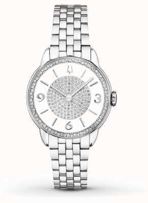 Bulova Dames roestvrij stalen armband met diamanthorloge 96R184