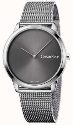 Calvin Klein Unisex minimal watch mesh band K3M211Y3