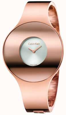 Calvin Klein Womans rose gouden toon naadloze horloge klein K8C2S616